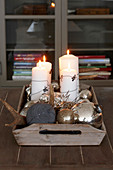 Christmas arrangement of candles