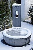 Winter im Zen-Garten