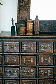Antique, Oriental apothecary cabinet