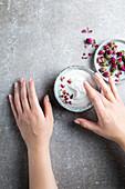 Almond and rose hand cream