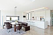 Open kitchen with dining area, Neuenkirchen, North Rhine-Westphalia, Germany