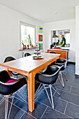 Dining room, Bauhaus residential house, Hamburg, Germany