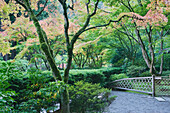 The Japanese Garden in Portland is a 5.5 acre garden and retreat.  Said to be one of the most authentic Japanese Garden's outside of Japan, the rolling terrain and water features symbolize both peace and strength.