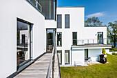villa in a modern archtecture style, Brandenburg, Germany