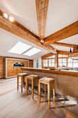 penthouse in a modern alpine style, Kitzbuehel, Tyrol, Austria, Europe
