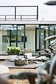 moderne Art zu Wohnen, moderne Archtektur in Hamburg, Hamburg, Norddeutschland, Deutschland