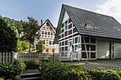 timbered house in Bendesdorf, Nordheide, Niedersachsen, north Germany, Germany