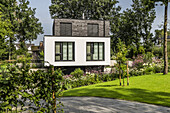modern houses in Buchholz, Niedersachsen, north Germany, Germany