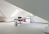 home office of a modern one family villa in Hamburg, north Germany, Germany