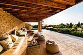Loungebereich Finka Son Gener, Arta, Mallorca, Balearen, Spanien