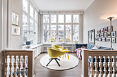 a modern furnished Art Nouveau apartment in Hamburg, north Germany, Europe