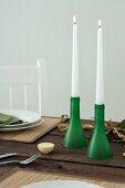 Flaschenhals als Kerzenhalter