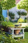 Gartenanlage im Schloss La Verrerie (Frankreich)