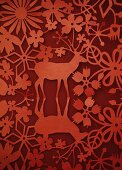 Red paper Christmas decoration