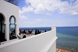 Moroccan villa with a terrace and a beautiful view of the sea