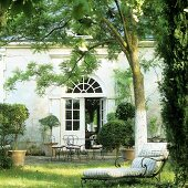 Relaxation in the garden of a French country house