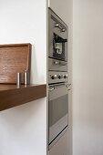 Integral oven in modern kitchen