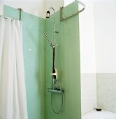 A shower cubicle