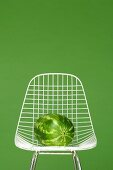Watermelon on chair, close-up