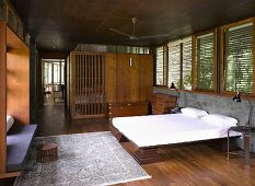 Traditional bedroom in modern house