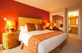 Luxury Guestroom Interior in the Watermark Beach Resort in Osoyoos British Columbia