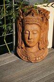 Teak mask of Oriental princess