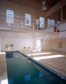 Pool in open-plan house