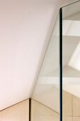 Ceiling joint of room-height mirrored wardrobe