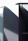 Detail of black-painted balustrade
