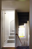 Partially closed staircase
