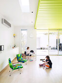 Children's play area in living room