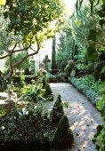 Idyllic garden in a rural setting
