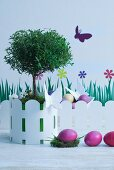 Spring decorations and Easter eggs