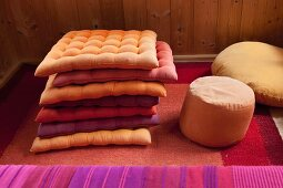 Colourful seat cushions
