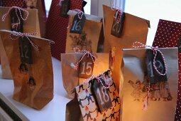 Paper bags as Advent calendar