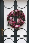 Flower wreath on a house door