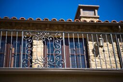 Balcony detail of Tuscan home