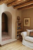 Archway separating rooms in southwest home