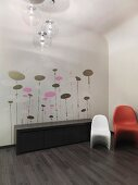 Decorative decals on wall