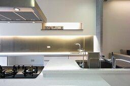 Sink in modern kitchen
