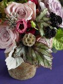 Flower Arrangement with Pink Roses