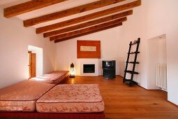 Sitting room in Mediterranean style home