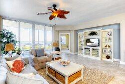 Large Oceanfront Living Room