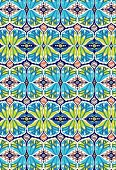 Blue-green kaleidoscope design
