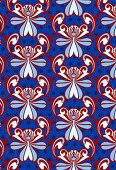 Repeating Cape daisy pattern (print)
