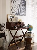 Small writing desk and African accessories