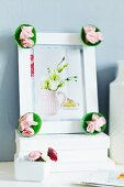 Paper cake cases decorating picture frame