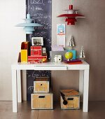 Christmas gifts for the office or hobbies: camera, globe, blackboard, lamps, desk, calendar, storage boxes
