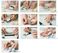 Making liquorice allsorts from modelling clay
