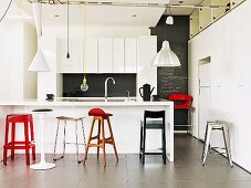 Various stylish stools for the modern kitchen